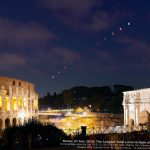 Total Lunar Eclipse and Mars above the Colosseum and the Arch of Constantne