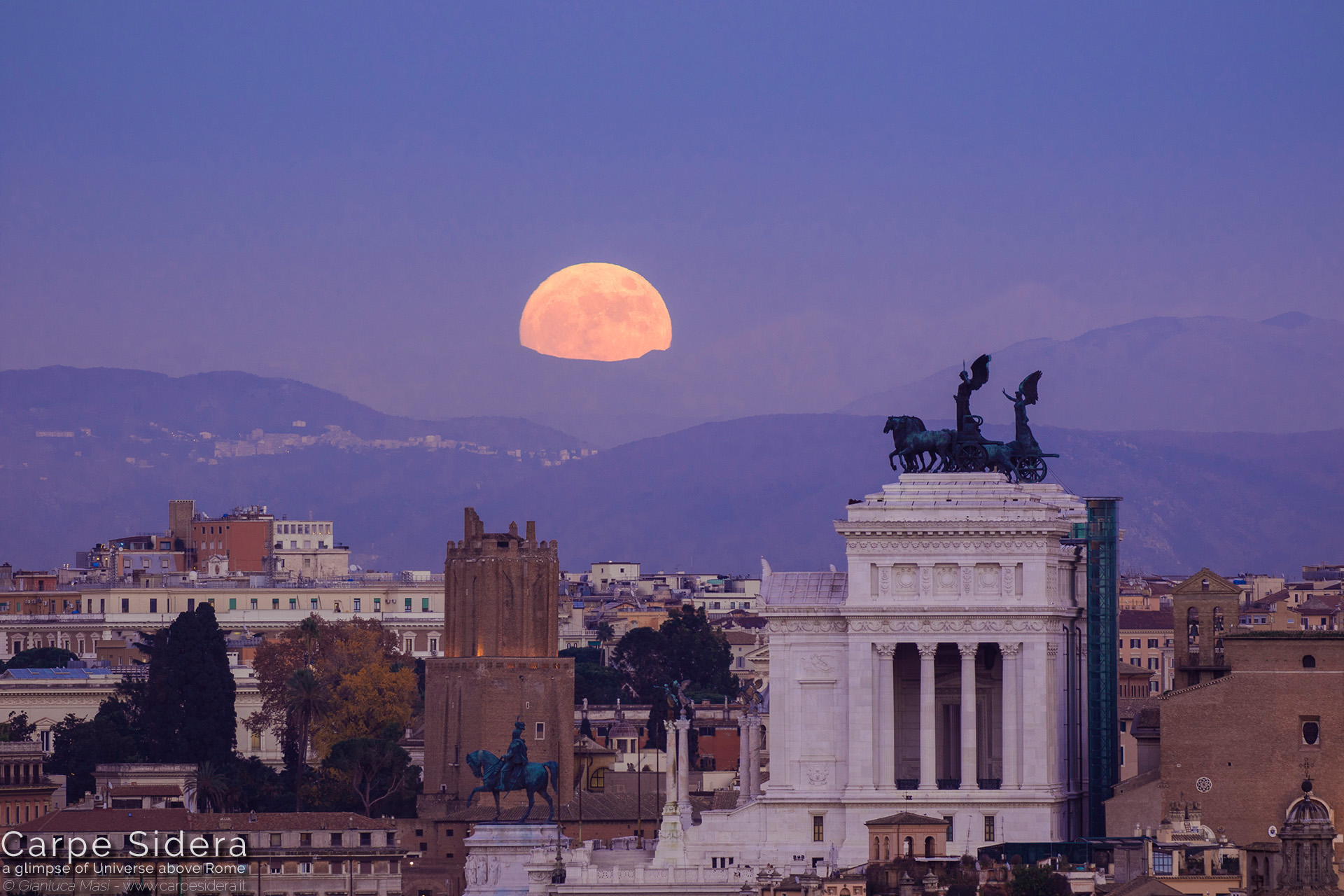 "1. The 13 Dec. 2016 full Moon at perigee (""Supermoon"") looms above the Altar of the Fatherland in Rome."