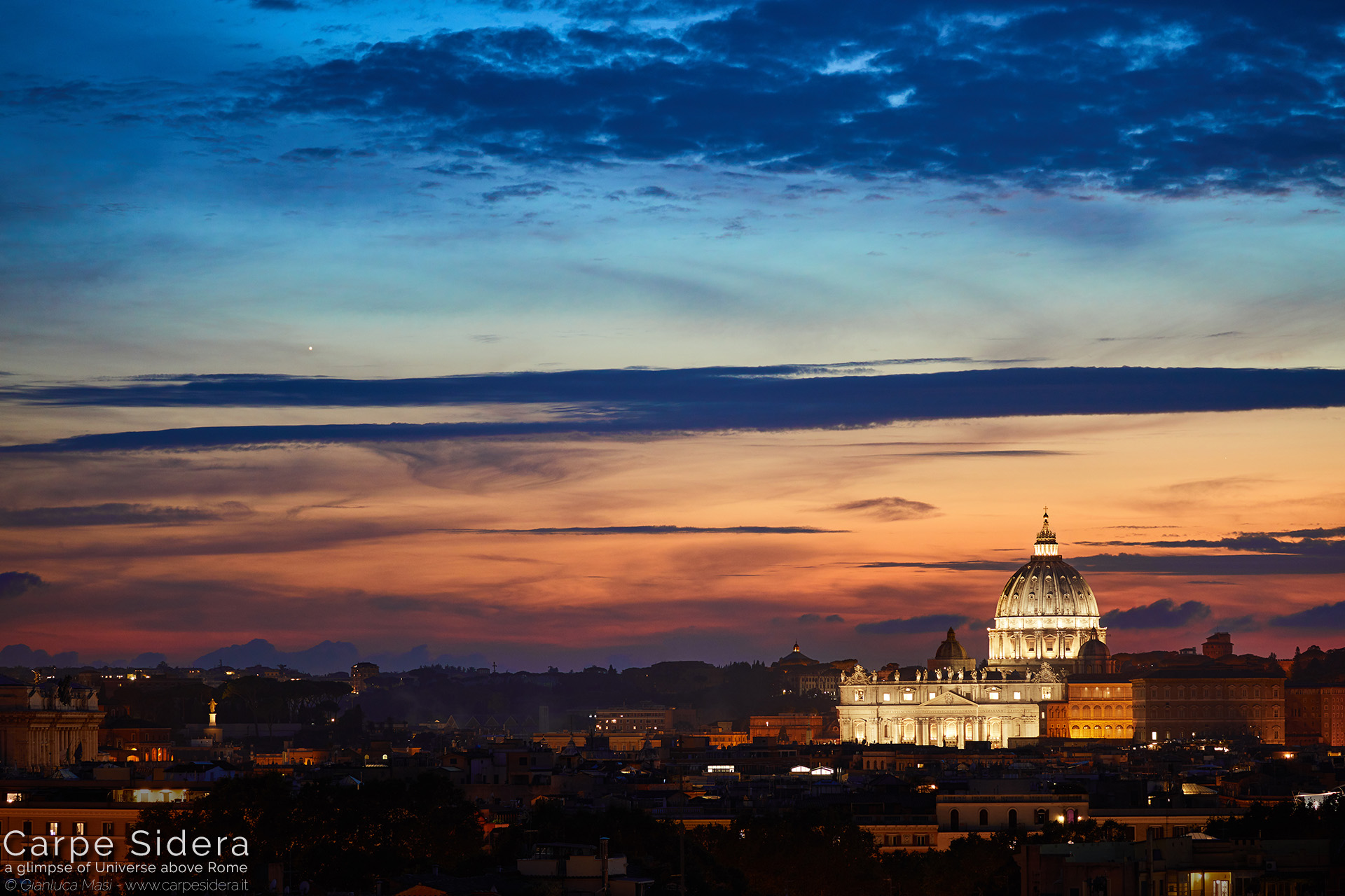 2. Planet Venus sets beside St. Peter's Basilica.