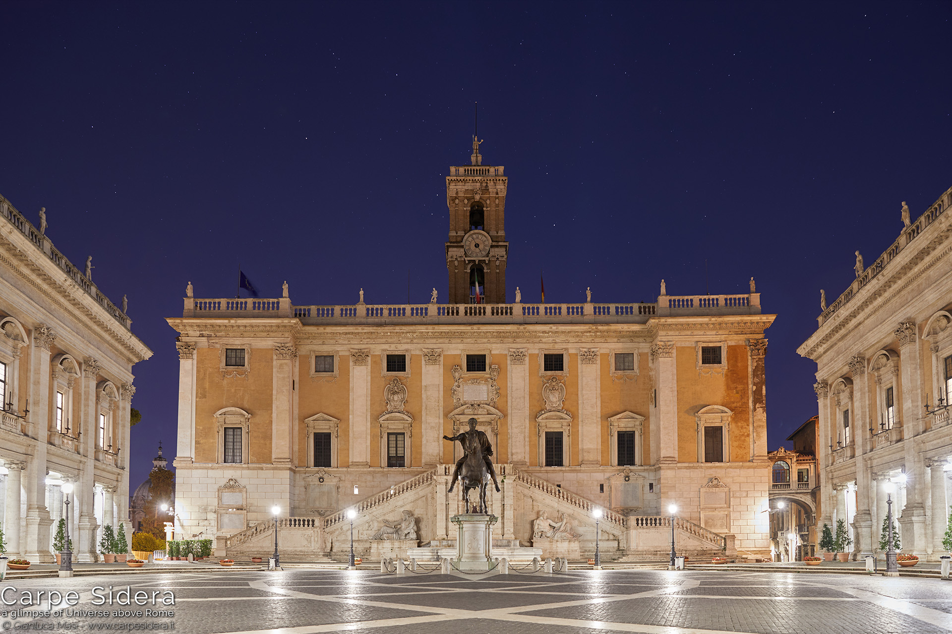 3. The Orion constellations rises behind the Palazzo Senatorio.