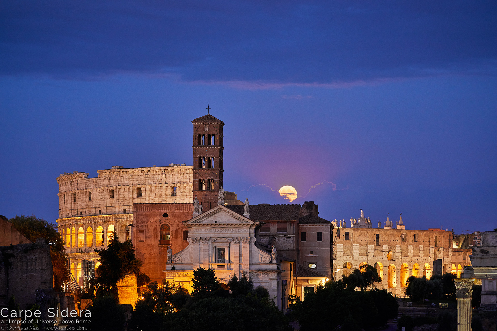 4. The full Moon rises behind the Flavian Amphitheatre.
