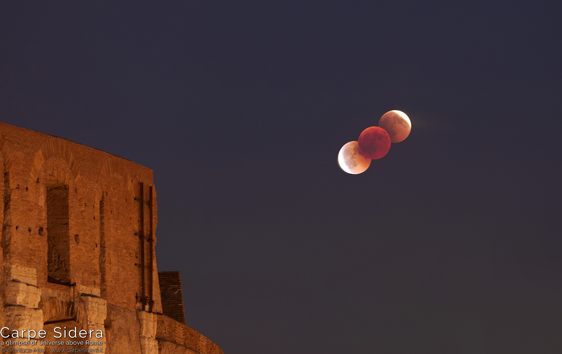 5. The 27 July 2018 total lunar eclipse beside the Colosseum.