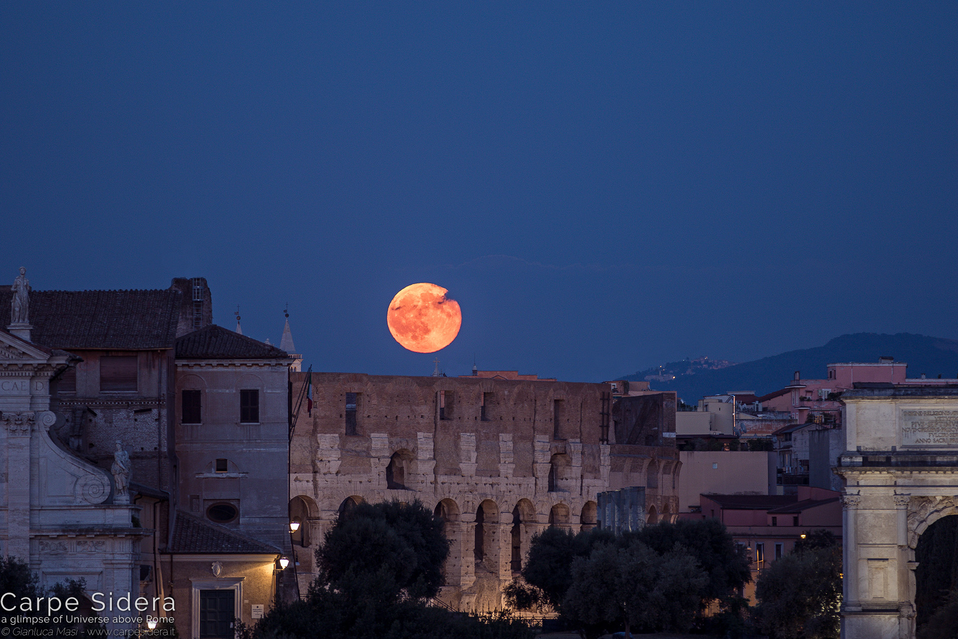 7. The 20 July 2016 full Moon and the Colosseum.