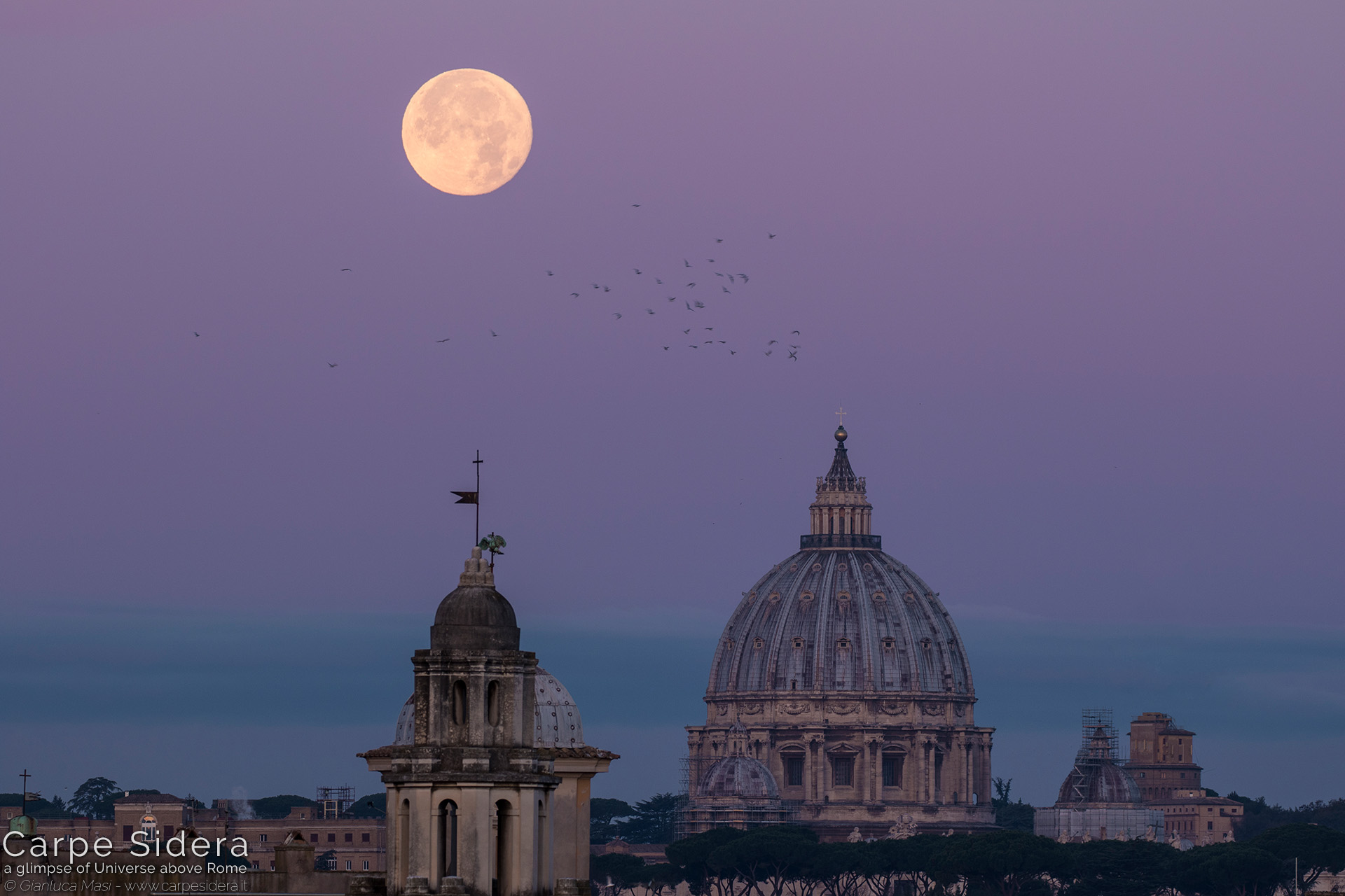 "9. The 4 Dec. 2017 full Moon at perigee (""Supermoon"") looms above the dome of St. Peter's, at dawn."
