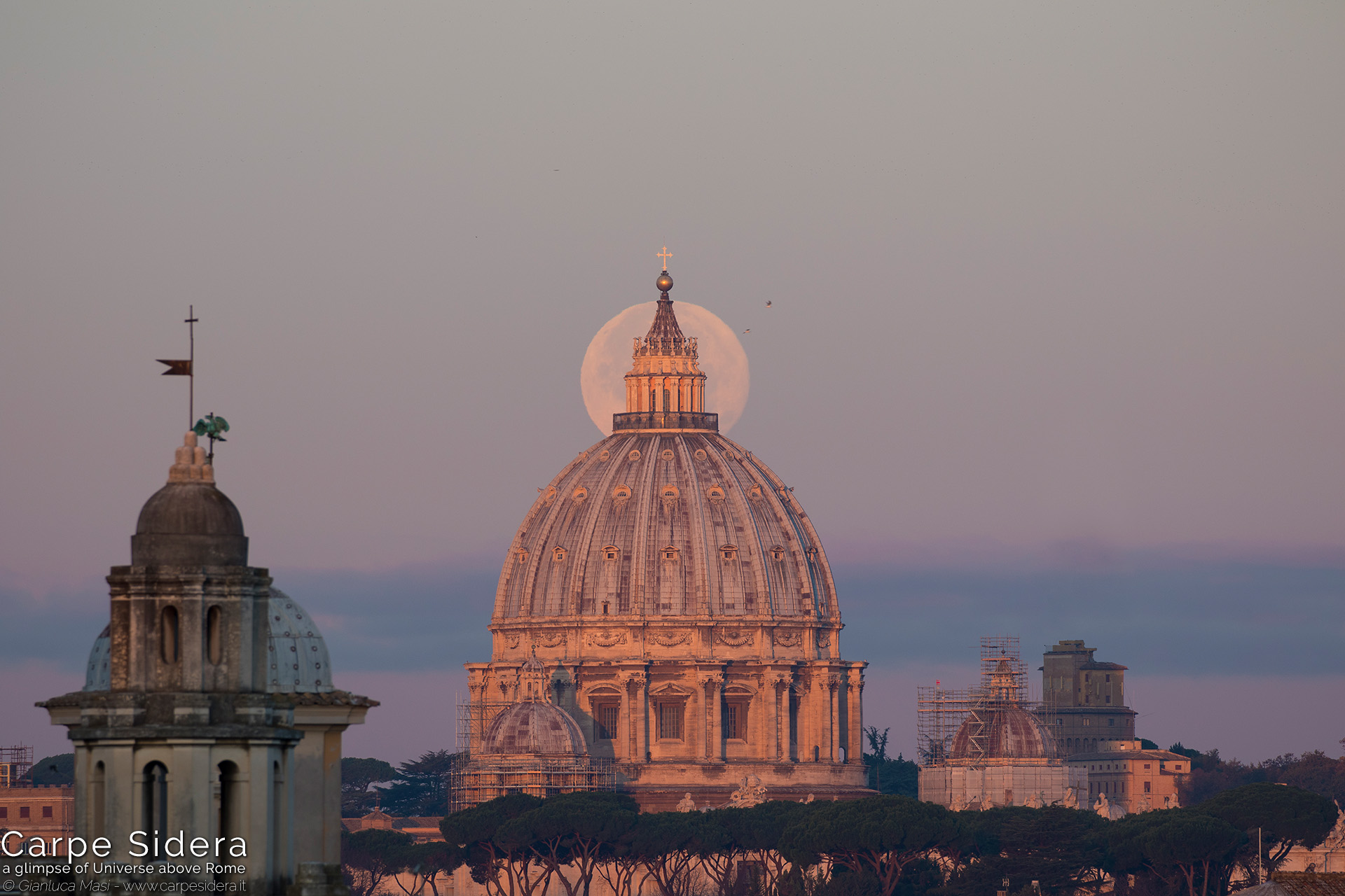 "10. The dome of St. Peter's ""eclipses"" the 4 Dec. 2017 Supermoon."