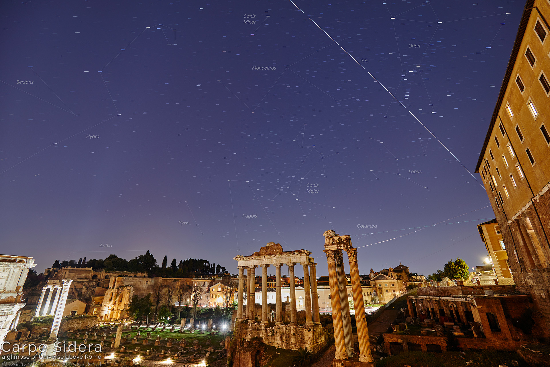 22. The Roman Forum and the International Space Station (ISS).